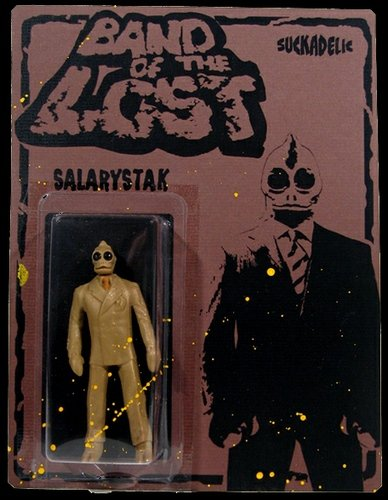 Salarystak figure by Sucklord, produced by Suckadelic. Front view.