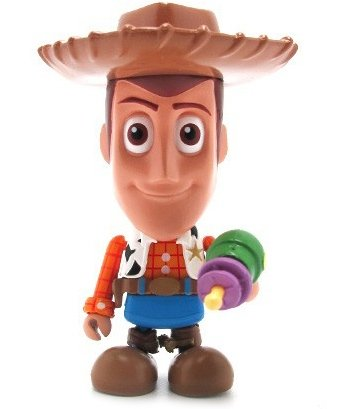 Woody figure by Disney X Pixar, produced by Hot Toys. Front view.