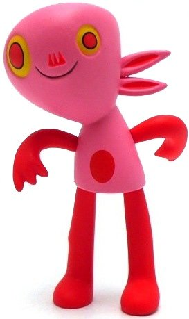 Piccalilicus figure by Jon Burgerman, produced by Kidrobot. Front view.