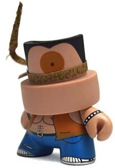 (Untitled)  figure by Der, produced by Kidrobot. Front view.