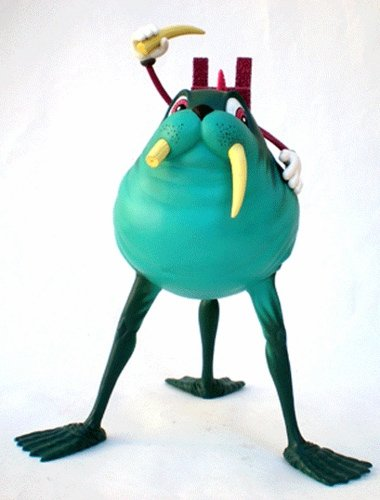 Walrus Rider figure by Alex Pardee, produced by The Loyal Subjects. Front view.