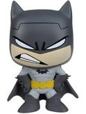 Batman figure by Dc Comics, produced by Funko. Front view.