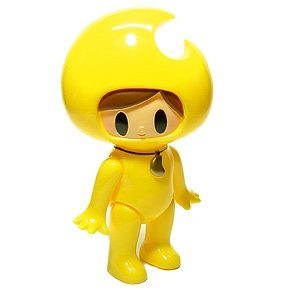 Mikazukin - Yellow figure by Itokin Park, produced by One-Up. Front view.