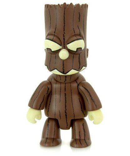 Treeman Bart Brown figure by Matt Groening, produced by Toy2R. Front view.