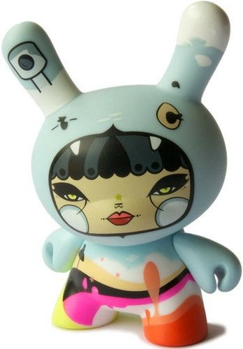 Julie West dunny figure by Julie West, produced by Kidrobot. Front view.