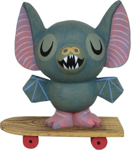 Bat n Board figure by Amanda Visell, produced by Switcheroo. Front view.