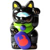 Mini Fortune Cat - Black Sparkle