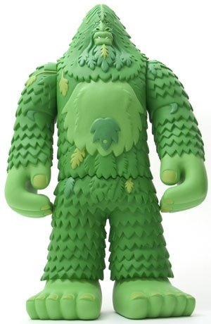 Bigfoot in Green figure by Bigfoot One, produced by Strangeco. Front view.