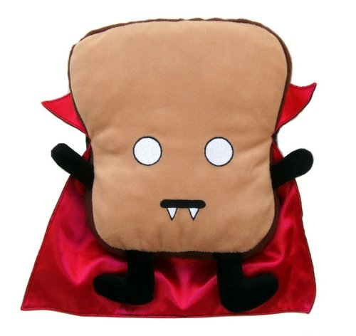 Mega Vampire Toast figure by Dan Goodsell. Front view.