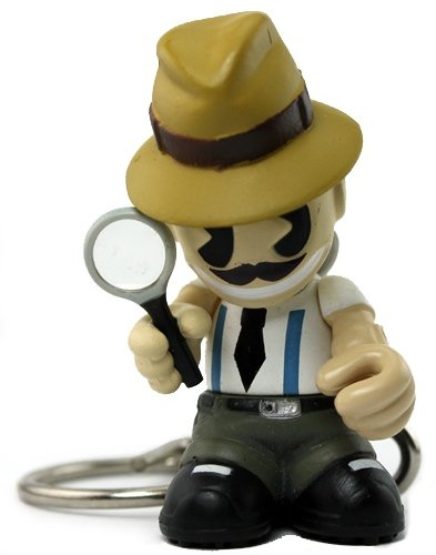 Detective figure, produced by Kidrobot. Front view.