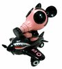 Ron English x ZacPac:Mousemask Murphy in Airplane BlackBook Toy Exclusive