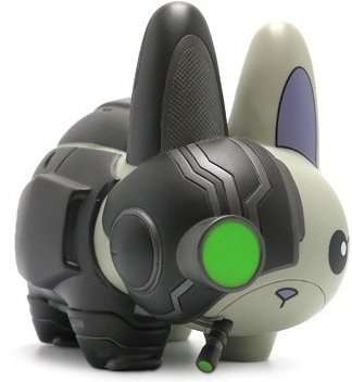 Cyborg Labbit - Nemesis Edition figure by Chuckboy, produced by Kidrobot. Front view.