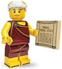 Roman Emperor figure by Lego, produced by Lego. Front view.