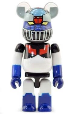 Devilman Mazinger Z 40th Anniversary - Secret Be@rbrick Series 26 figure, produced by Medicom Toy. Front view.