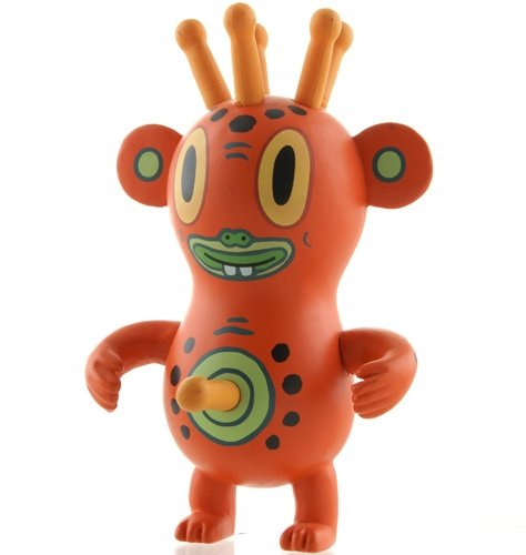 Pupik figure by Gary Baseman, produced by Strangeco. Front view.