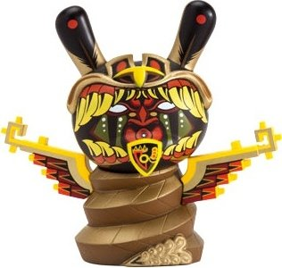 Jesse Hernandez Dunny figure by Jesse Hernandez, produced by Kidrobot. Front view.