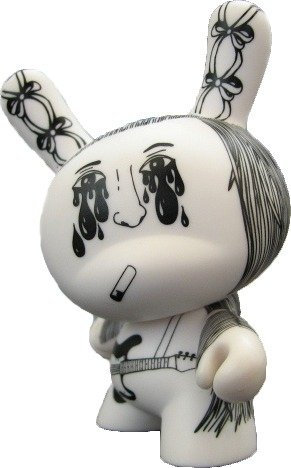 Sophie Toporkoff Dunny figure by Sophie Toporkoff, produced by Kidrobot. Front view.