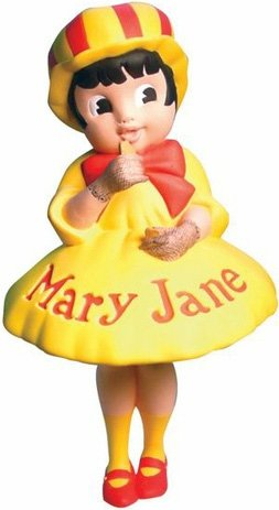 Mary Jane figure by Necco, produced by Dark Horse. Front view.