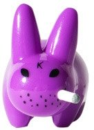 Mini Smorkin Labbit - Glossy Purple figure by Frank Kozik, produced by Kidrobot. Front view.