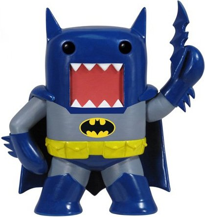 Domo Batman figure by Dc Comics, produced by Funko. Front view.