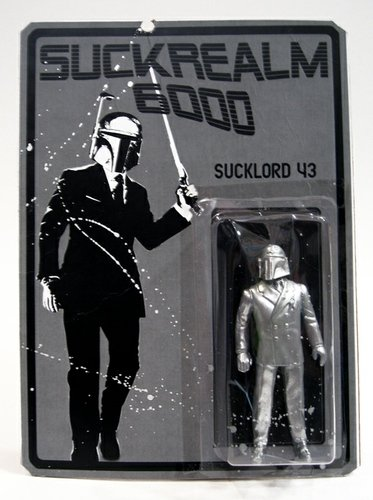 Sucklord 43 figure by Sucklord, produced by Suckadelic. Front view.