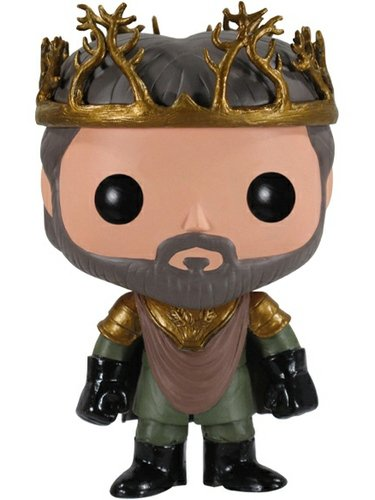 Renly Baratheon figure by George R. R. Martin, produced by Funko. Front view.