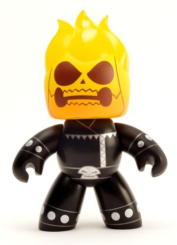 Ghost Rider figure, produced by Hasbro. Front view.