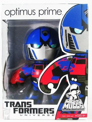 Optimus Prime (Movie) figure, produced by Hasbro. Front view.