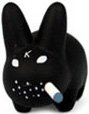 Black Labbit figure by Frank Kozik, produced by Kidrobot. Front view.