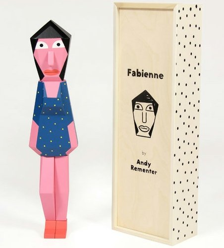 People Blocks - Fabienne figure by Andy Rementer, produced by Case Studyo. Front view.