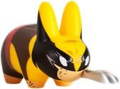 Wolverine Labbit figure by Marvel, produced by Kidrobot. Front view.