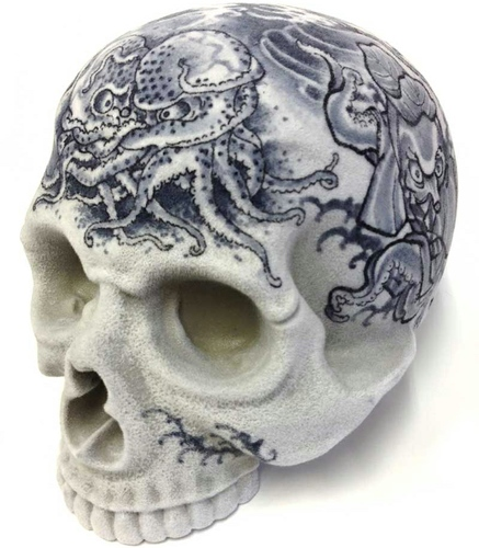 """MEDETAI"" 1/1 SKULL HEAD Artist/GANJI (Three Tides tattoo)"