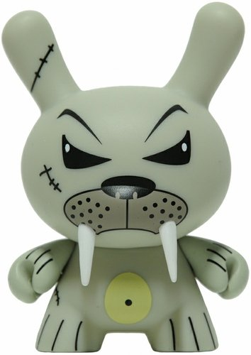 Walrus figure by Frank Kozik, produced by Kidrobot. Front view.