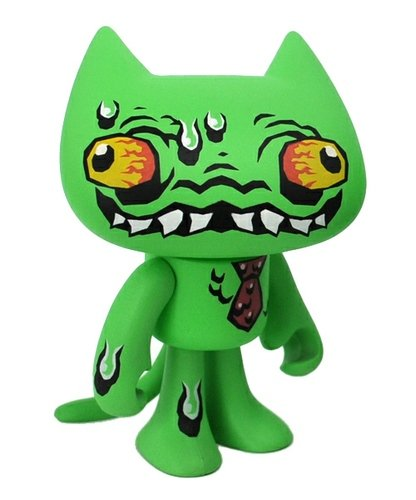 CrapStink Splasher - Crappy Cat figure by Vanbeater, produced by Unacat. Front view.