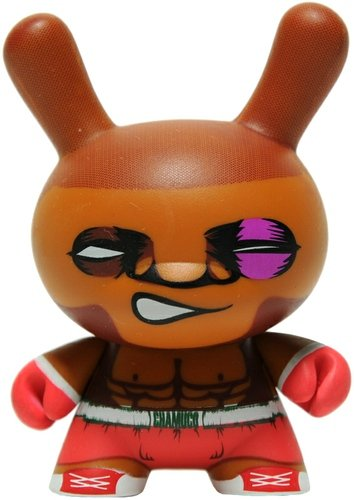 Chamuco from Tepito figure by Luis Mata, produced by Kidrobot. Front view.