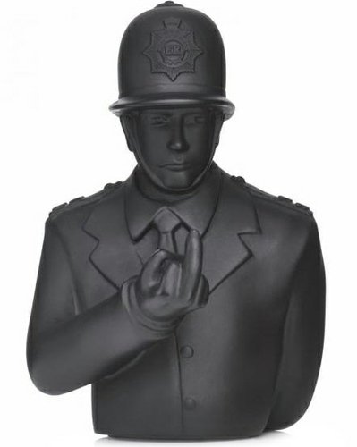 Rude Copper figure by Apologies To Banksy, produced by Apologies To Banksy. Front view.