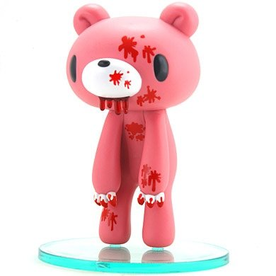 Gloomy Bear figure by Mori Chack, produced by Kidrobot. Front view.