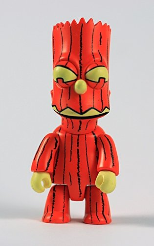 Squash Bart Qee figure by Matt Groening, produced by Toy2R. Front view.