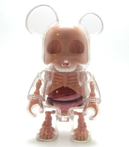 7 Inch Visible Qee figure by Jason Freeny, produced by Toy2R. Front view.