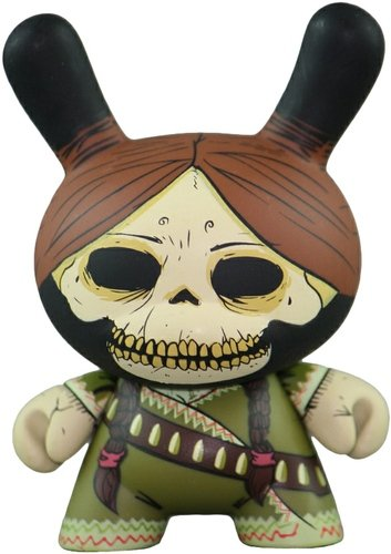 Adelita - Regular figure by Oscar Mar, produced by Kidrobot. Front view.