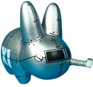 Mecha Labbit figure by Frank Kozik. Front view.