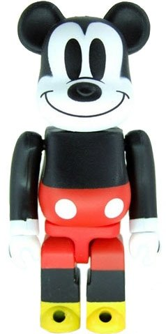 Mickey Mouse Classic - Secret Animal Be@rbrick Series 17 figure by Disney, produced by Medicom Toy. Front view.