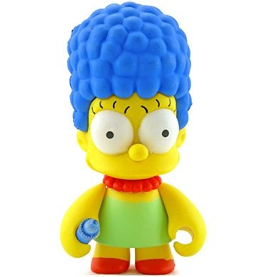 Marge figure by Matt Groening, produced by Kidrobot. Front view.
