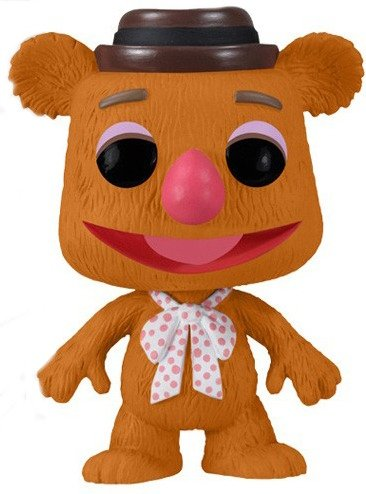 Fozzie Bear figure by Jim Henson, produced by Funko. Front view.