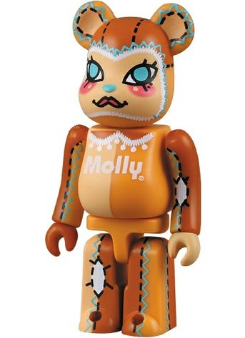 Be@rbrick Molly figure by Kenny Wong, produced by Medicom Toy. Front view.