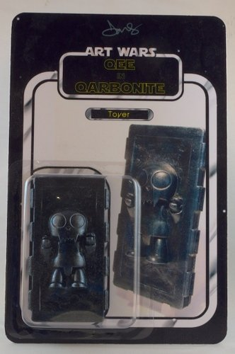 Qee in Carbonite (Toyer) figure by Dms. Front view.