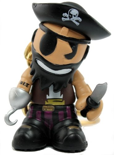 Capn figure, produced by Kidrobot. Front view.