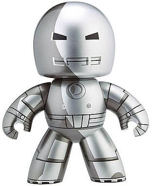 Iron Man (Mark I) figure, produced by Hasbro. Front view.