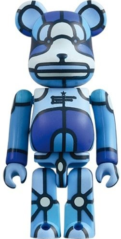 X-LARGE x Flores Be@rbrick 100% figure by David Flores, produced by Medicom Toy. Front view.
