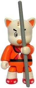 Shaolin Kung Fu Cat figure, produced by Toy2R. Front view.